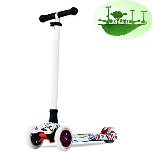 Kickscooter Kinder-Roller Mit Vier Rädern Mode Cartoon Flash Skateboard Outdoor-Roller Für Männer Und Frauen Gedankenspiel (Color : D, Size : 67-90cm)