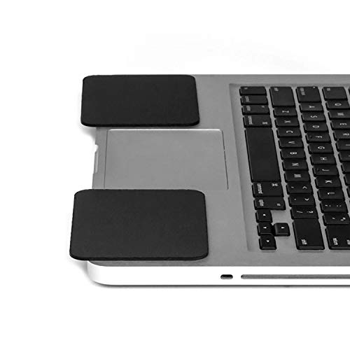Grifiti Large Slim Palm Pads Notebook Wrist Rests with Tacky Silicone Reposition for Hard and Sharp MacBooks and Laptops (2 Large 4 x 3.12 inches)