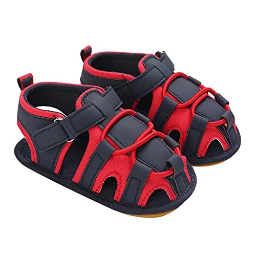 MOMIYA - Sandalias para niño, antideslizantes, de secado rápido, diseño animado, zapatillas de agua para niña, jardín, calcetines para playa, natación, piscina, niños y niñas rojo 12