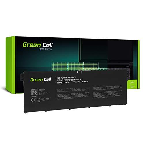 Green Cell Akku für Acer Aspire 3 A315-51 A315-51-300U A315-51-30FK A315-51-318M A315-51-3286 A315-51-32RP A315-51-33W2 A315-51-379T A315-51-380T Laptop (4750mAh 7.7V Schwarz)