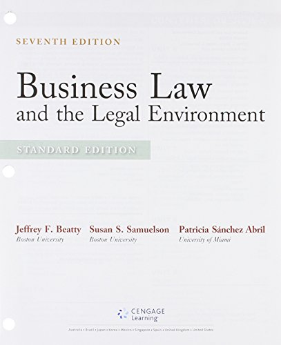 Bundle: Business Law and the Legal Environment, Standard Edition, Loose-leaf Version, 7th + MindTap Business Law, 2 term