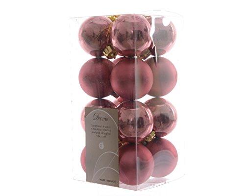 16infrangibile Mini palline natalizie decorazione 40mm?marmo rosa