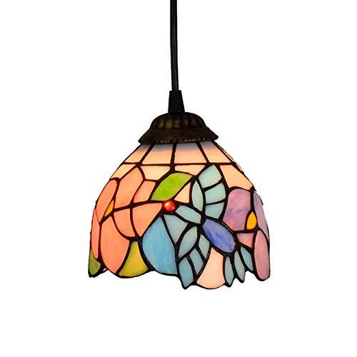 Lámpara de techo de estilo Tiffany de 6 pulgadas de estilo Tiffany pequeña, con diseño de neumáticos, de Hummingbird