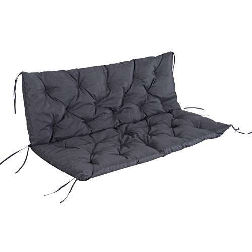 Outsunny Outdoor Garden Patio Bench Swing Chair Replacement Seat Pad Cushions Backrest (150 x 98 cm, 3 Seater)
