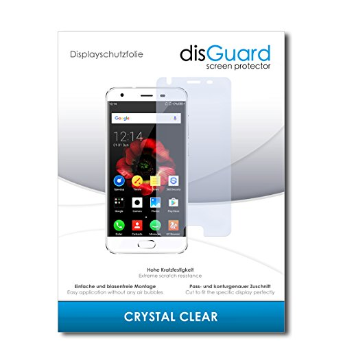 disGuard® Bildschirmschutzfolie [Crystal Clear] kompatibel mit Oukitel K4000 Plus [2 Stück] Kristallklar, Transparent, Unsichtbar, Extrem Kratzfest, Anti-Fingerabdruck - Panzerglas Folie, Schutzfolie