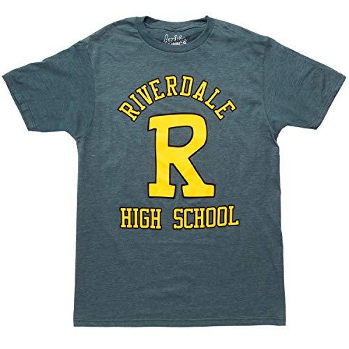 Riverdale High School Big R Adult T-Shirt - Navy (Medium)
