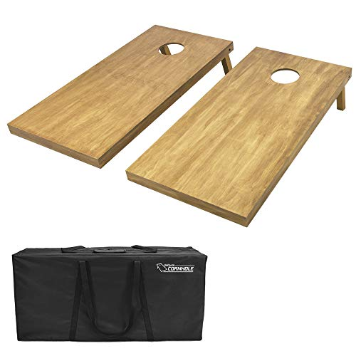 GoSports 4'x2' Regulation Size Wooden Cornhole Boards Set - Includes Carrying Case and Over 100 Optional Bean Bag Colors