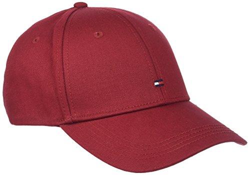 Tommy Hilfiger Herren Baseball Classic Bb Cap, Rot (Rhubarb 650), One Size (Herstellergröße: OS)