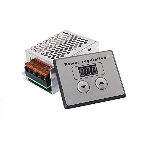 DollaTek AC 220V 4000W Regulador de Voltaje de Pantalla SCR Regulador de Voltaje Regulador de luz Termostato