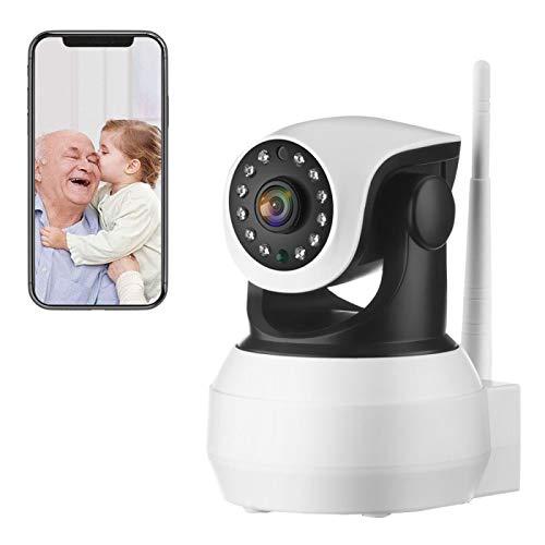 Monitor de seguridad para bebés / mascotas, cámara interior IP 4G sim 1080P CCTV, PTZ, visión nocturna, detección de movimiento, alarma en tiempo real, audio de 2 canales (Cámara + tarjeta TF de 32G)