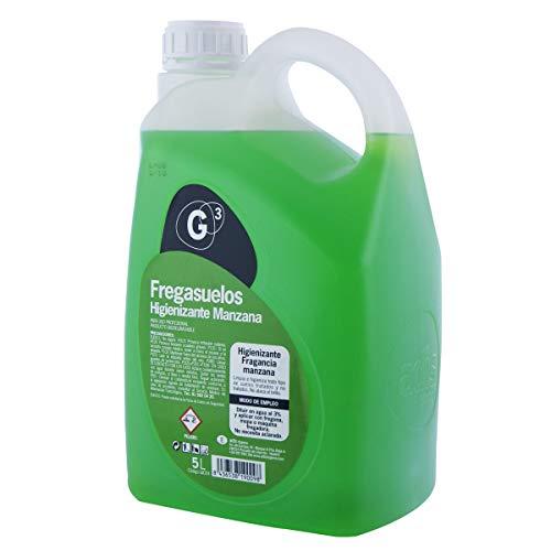 Fregasuelos Higienizante G3 Perfumado - Fragancia Olor Manzana - Garrafa de 5 litros - Todo tipo de Suelos - No Saca el Brillo