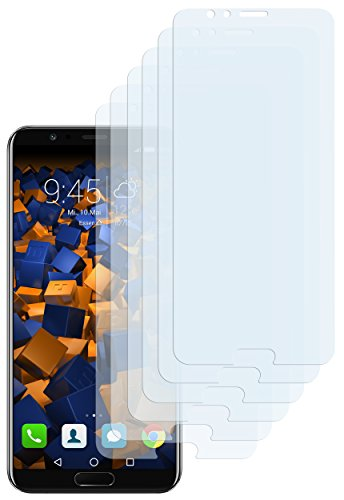 mumbi Schutzfolie kompatibel mit Huawei Honor View 10 Folie klar, Bildschirmschutzfolie (6X)