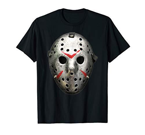 Halloween Retro Vintage Hockey Goalie Maske Horror T-Shirt