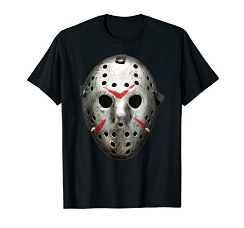 Halloween Retro Vintage Hockey Goalie Maske Horror T-Shirt