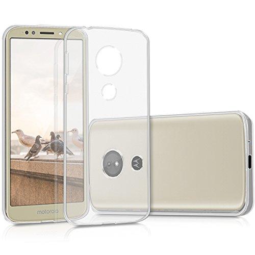 kwmobile Carcasa Compatible con Motorola Moto E5 - Funda de Silicona para móvil - Cover Trasero en Transparente