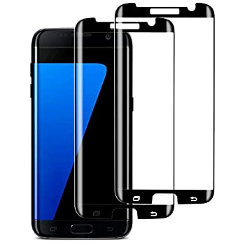 S7 Edge Screen Protector  2 Pack  Case-Friendly Tempered Glass,9H Hardness,HD Clear Tempered Glass for Samsung Galaxy S7 Edge