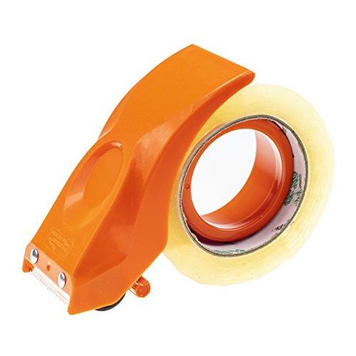 PROSUN Cinta de embalar precinto cinta embalaje precintadora cinta adhesiva celo transparente film transparente para embalar Dispensadores de Cinta Adhesiva pistola , 50 mm naranja