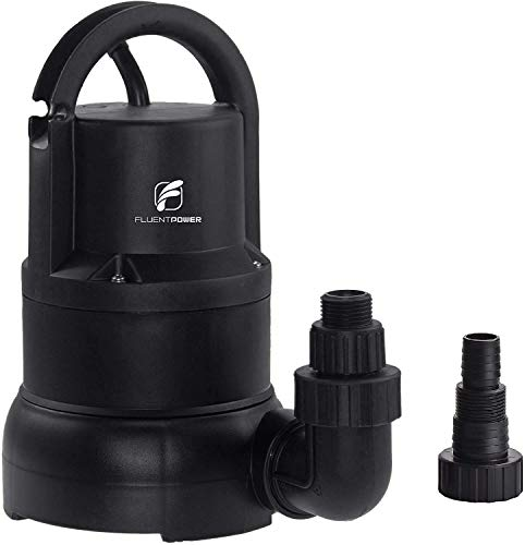 FLUENTPOWER 1/3 HP Electric Submersible Small Utility Drain Water Pump, without Float Switch, 3/4