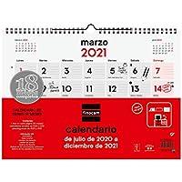 Finocam - Calendario de Pared 18 Meses 2020-2021 L - 340x245 Mes Vista Español