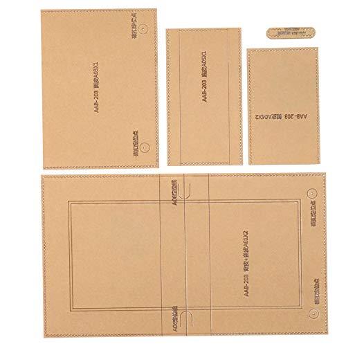 Basteln Sie Acryl-Schablonen-Vorlage, transparente Ledermuster-Acryl-Vorlage, praktisch für Brieftasche Freunde Verwandte Handtasche