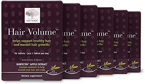 New Nordic Hair Volume, 30 Tablets Hair Growth Supplement, Biotin and Naturally Sourced Ingredients