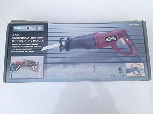 CHICAGO ELECTRIC Power Tools - Reciprocating Saw with Rotating Handle