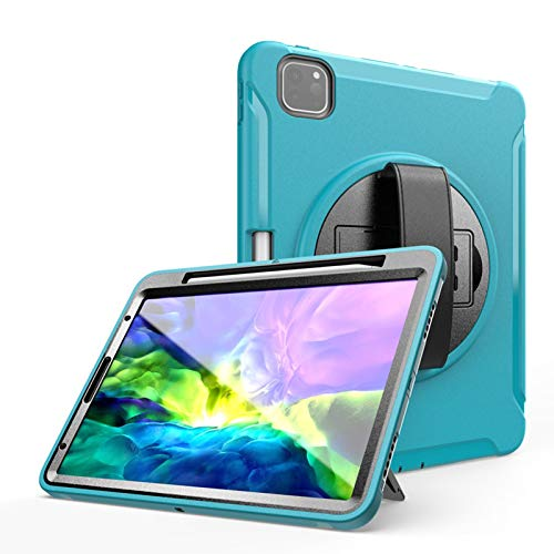 Case for iPad Pro 12.9 2020 4th Generation / 2018 3rd Gen with Pencil Holder, Built-in Screen Protector, Dual Layer Shockproof Full Body Protective Case for iPad Pro 12.9 inch ( Color : Green )