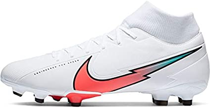 Nike Mercurial Superfly 7 Academy FG Soccer Cleats (White/RED, Numeric_9)