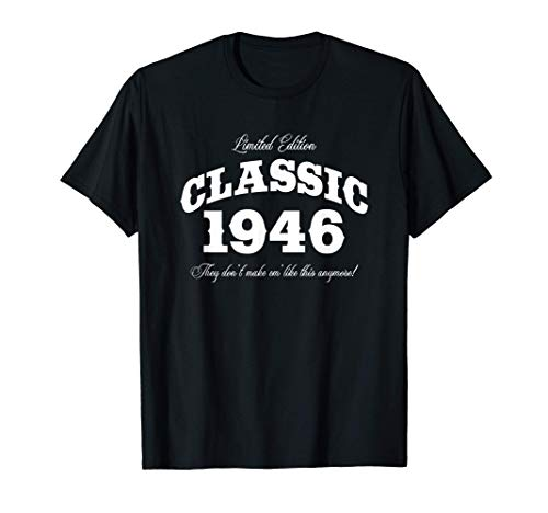 Gift for 75 Year Old: Vintage Classic Car 1946 75th Birthday T-Shirt