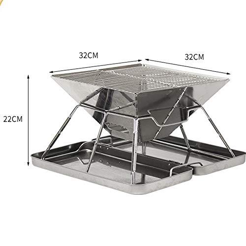41isQYVyJbL. SL500  - YWZQ Outdoor-Holzkohle BBQ Grill, Schärfen Edelstahl Folding BBQ-Grill-Zubehör Mobile Home Küche Camping Kochen Werkzeuge