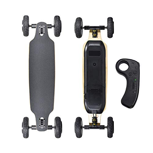 LUOYE Electric Skateboard with Remote Control Longboard,Off Road Type 6000Mah Battery Electric Skateboard for Teenager and Adult Dual 1650W Motor 35Km/H with Remote Control