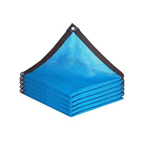 Caixia Malla de Sombra, Seis líneas Cubiertos con el Azul sombreado Neto, Espesado cifrado Piscina al Aire Libre sombreado Neto (Size : 3x3m)