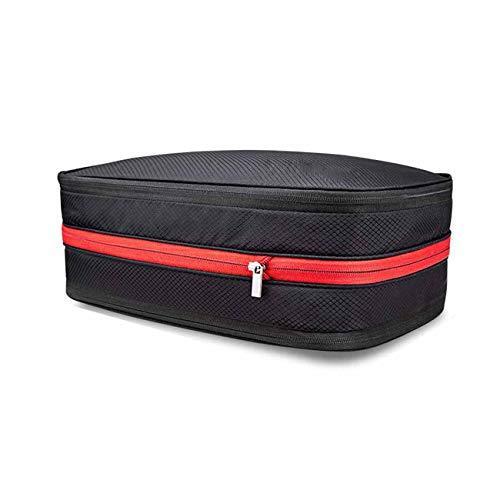 圧縮バッグ トラベルポーチ ファスナー圧縮 最大50%スペース節約可能 衣類仕分け(綺麗&汚れた衣類)軽量 防水 旅行/出張/整理用に最適15L