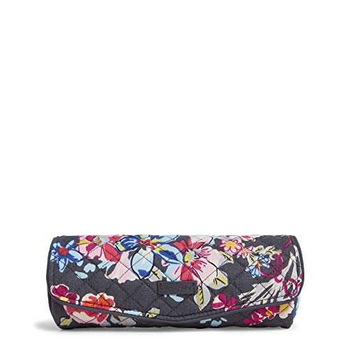 Vera Bradley Women's Signature Cotton On a Roll Cosmetic Case, Pretty Posies, One Size