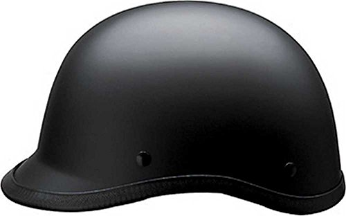 HCI Matte Black Polo Motorcycle D.O.T Half Helmet - ABS Shell 105-211 (Medium)