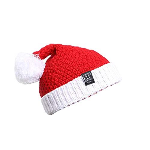 Tendycoco Gebreide muts voor Kerstmis, winter, warm, kerstmuts, gehaakte muts van wol, voor mannen en vrouwen