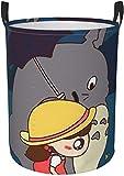Bernice Winifred Cesta Circular de Dibujos Animados Totoro para Ropa Sucia, Cesta para Organizador de Almacenamiento, habitación de niños, Organizador para el hogar, tamaño Mediano