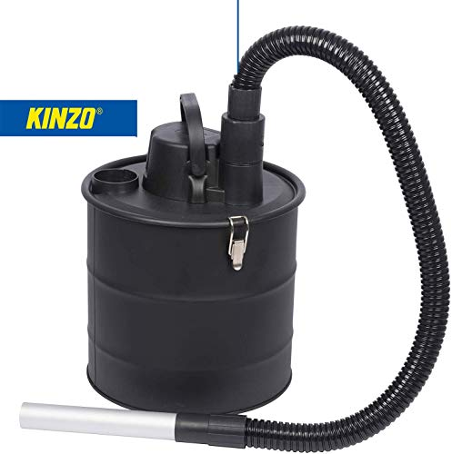 Kinzo MK800 Aschesauger Kaminsauger mit Gebläsefunktion, 18L Behälter + Schlauch aus Metall, 2in1 Sauger Nasssauger Trockensauger, Grillsauger Hepa Filter, 800W, Staubsauger, [Energieklasse A+]