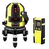 Firecore FIR411R Niveau Laser Autonivelant multiligne(Récepteur laser,chargeur)Laer Rouge