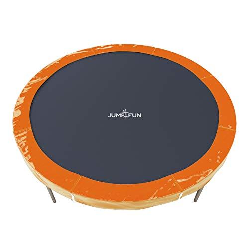Jump4fun Cojín universal con relleno de polietileno para cama elástica, diámetros de 185cm, 244cm, 305cm, 366cm, 400cm, 427 cm, varios colores, naranja, 6FT - 185cm