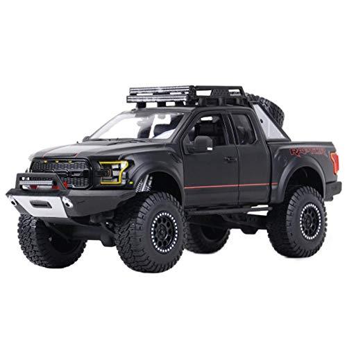 NMBE 1:24 para 2017 Ford F-150 Raptor Mais Off-Road Kings Pickup Truck Static Diecast Aleoy Modelo Coche Modelo De Auto (Color : Black, Size : B)