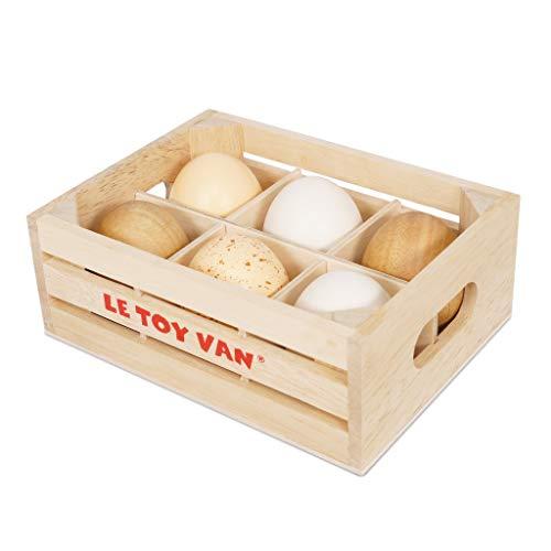 Le Toy Van, Color Huevos de Granja (Farm Eggs-Half Dozen Crate Premium)