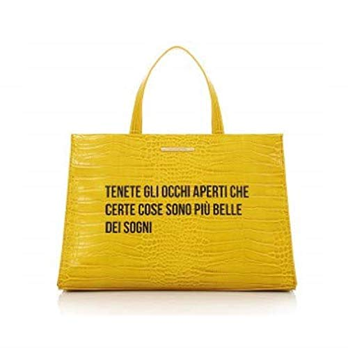 LE PANDORINE Borsa Cocco Bag OCCHI Yellow