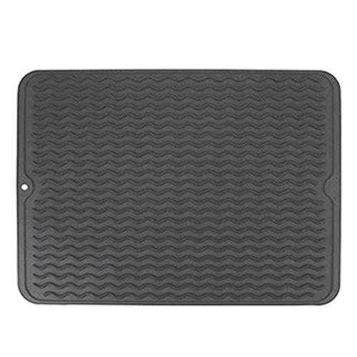 LHQ-HQ Mat de Silicona Multifuncional cojín de la Taza de Bricolaje Cocina Impermeable Coaster Heat Mat Vajilla Mantel Estera de Tabla for secar los Platos Gris