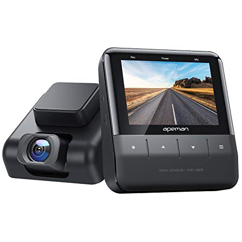 APEMAN Wi-Fi Dash Cam with App, 1080P Full HD Car Camera Sony Starvis Sensor, IPS Display, Night Vision, Parking Monitor, Motion Detection, Support 128G Max and GPS