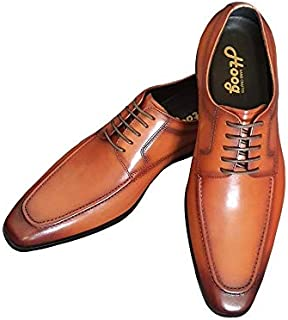 Men's Formal Derby Cow Leather Hoog Shoes, Brown