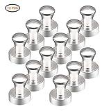 EisEyen 12 Stück Magnet für Whiteboard Pinnwand, Magnettafel, Kühlschrank, Kegelmagnete, Magnete Klein Pin Stahl Magnete