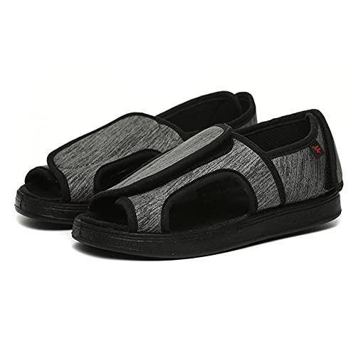 CCSSWW Ajustable De Velcro Zapatillas OrtopéDica Zapatos De Punta Abierta Ajustables Velcro Zapatillas OrtopéDica para -Gris_37