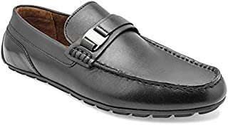 tresmode Men's Fagnolia Black Loafers