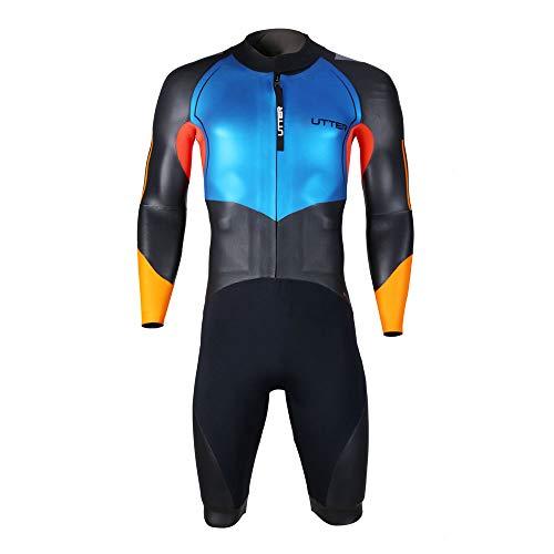 UTTER Herren-Badeanzug aus SCS-Neopren, glatte Haut, für Triathlon, Neoprenanzug für Surfen, Wassersport, Badebekleidung (ML)